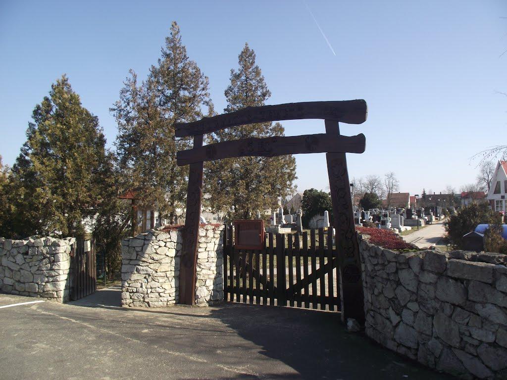 Tiszaszederkény Református temetőkapu 1994