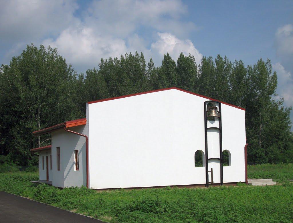 Az új temető épülete (Monorierdő)