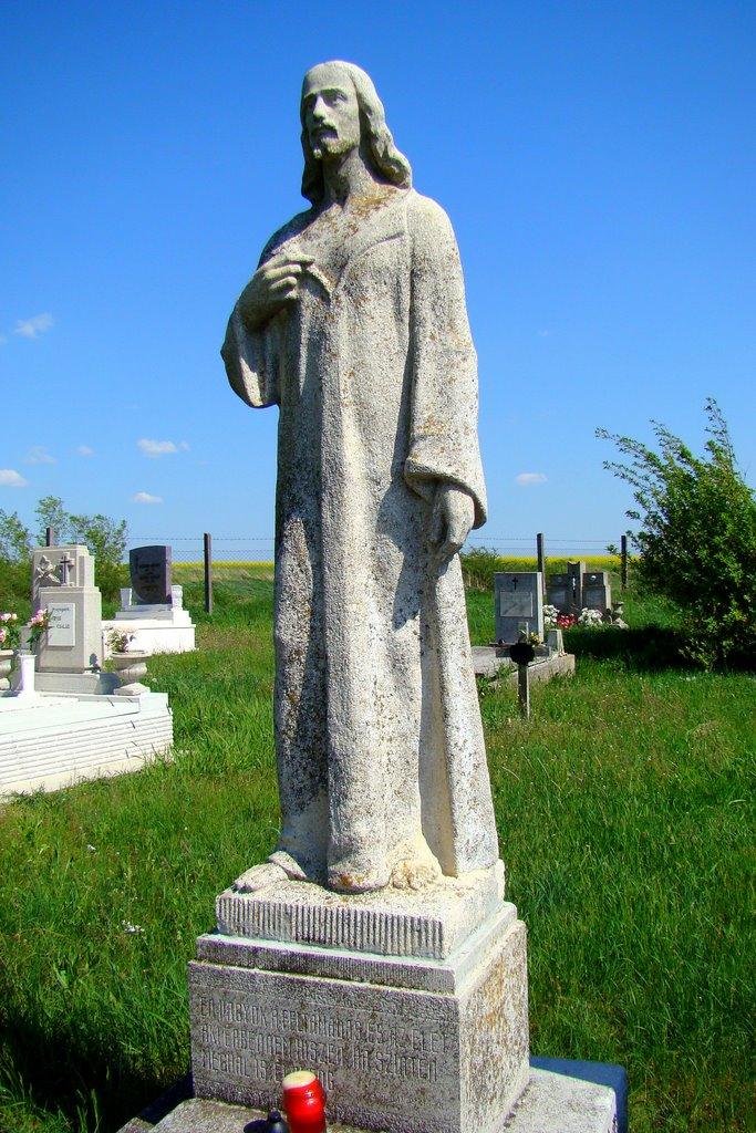 A pösténypusztai temetőben