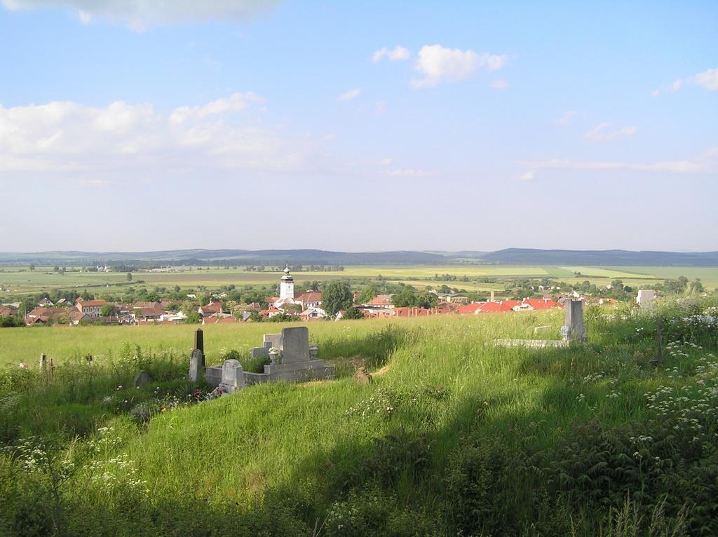 Kilátása városra a temetőből